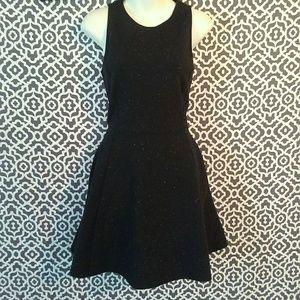 Gap Black Speckled Sleeveless Swing Dress Small
